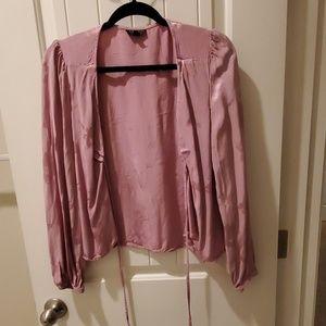 Top Shop Pink Floral Blouse